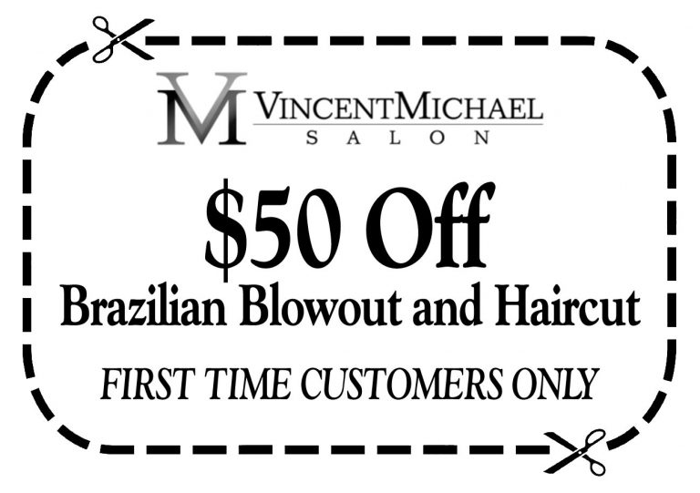 $50 Off Brazilian Blowout for First Time Customers at vincent Michael Salon in San Juan Capistrano, CA