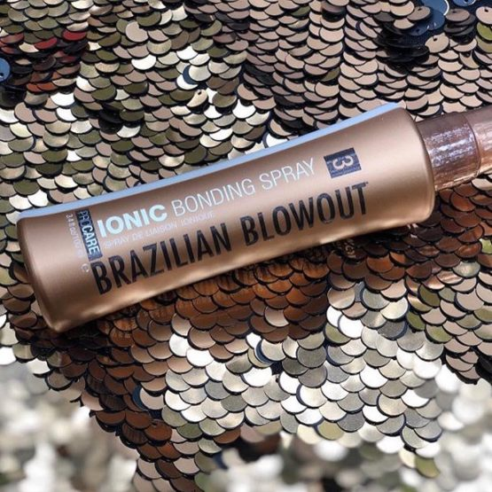 Brazilian Blowout Ionic Bonding Spray product shot - used by Vincent Michael Salon in San Juan Capistrano, CA
