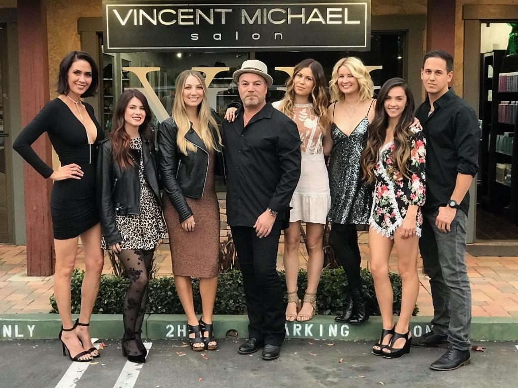 Vincent and the styling staff of Vincent Michael Salon